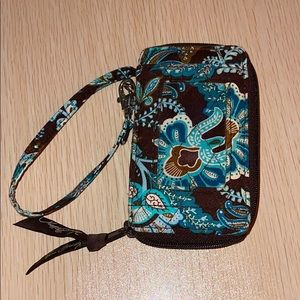 Vera Bradley ID card and wallet holder with handle